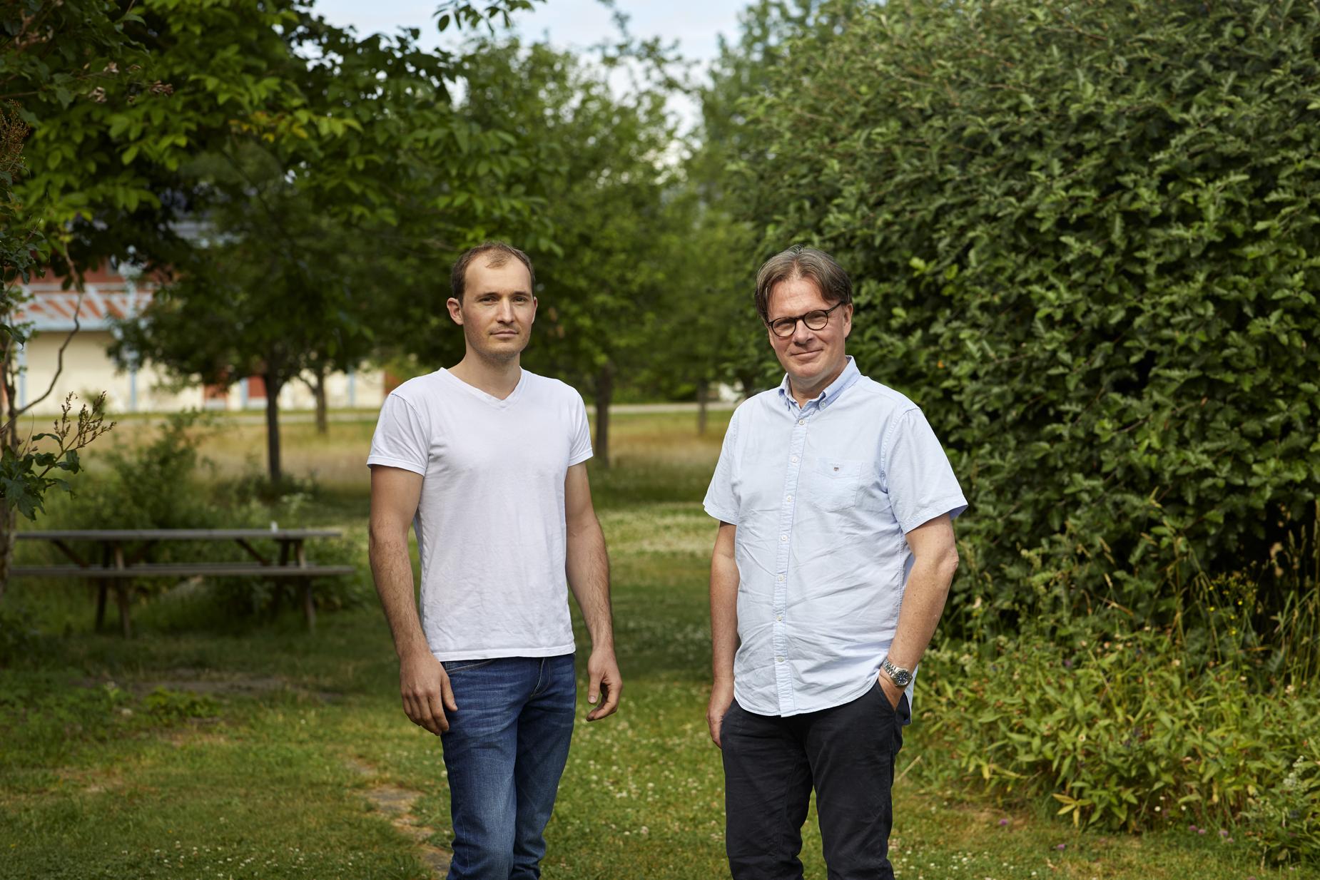 Juhani Selvani och  Jan Hillgård. Foto Erik Olsson.